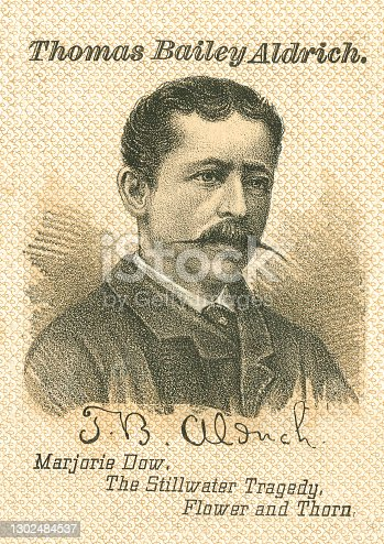 istock Portrait of Thomas Bailey Aldrich, American Writer 1302484537