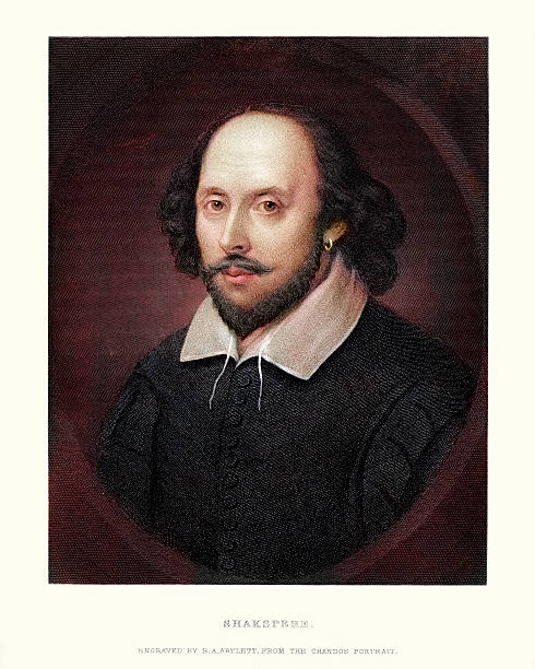 portret william shakespeare - portrait stock illustrations