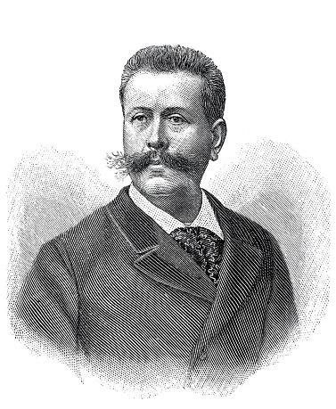 Portrait Paul de Cassagnac , french journalist