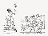 Poseidon and Amphitrite, Greek god and godess of the Sea