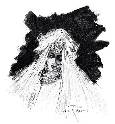Posh Arab bride in Cairo, portrait