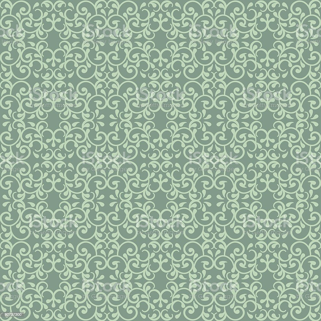 Posh Pattern in Green  Abstract stock vector