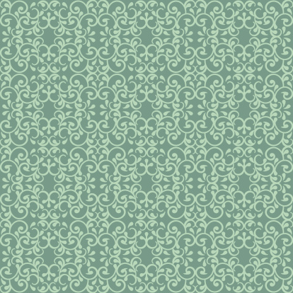 Posh Pattern In Green Stock Illustration - Download Image Now