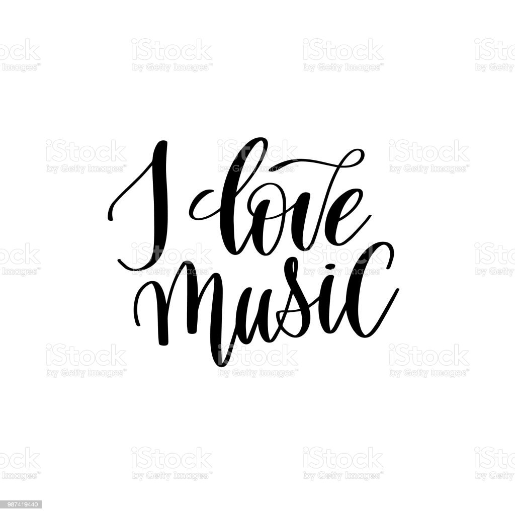 Positive Quotes I Love Music Stock Illustration Download Image Now Istock