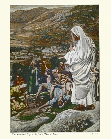 Possessed Boy at the Foot of Mount Tabor. Jesus