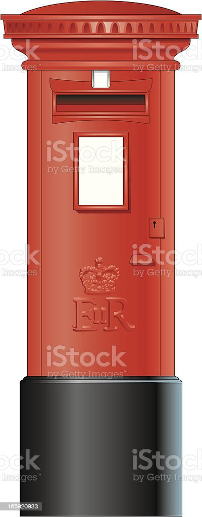 Post box royalty-free stock vector art