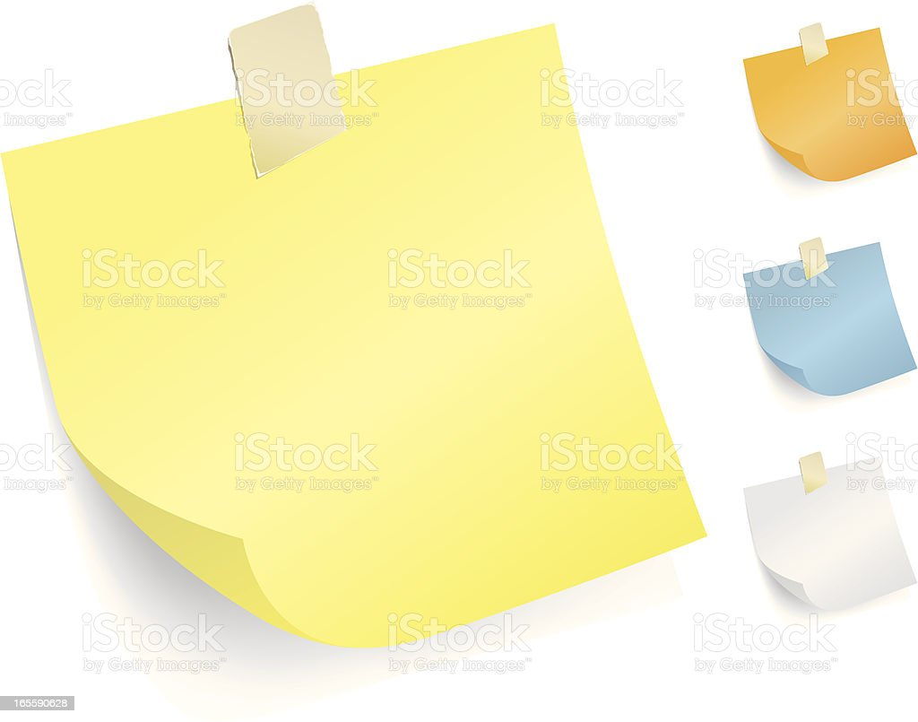Post It Note royalty-free stock vector art