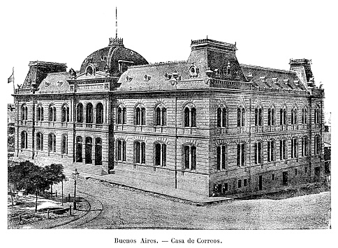 Post office building now Casa Rosada in Buenos Aires Argentina 1887