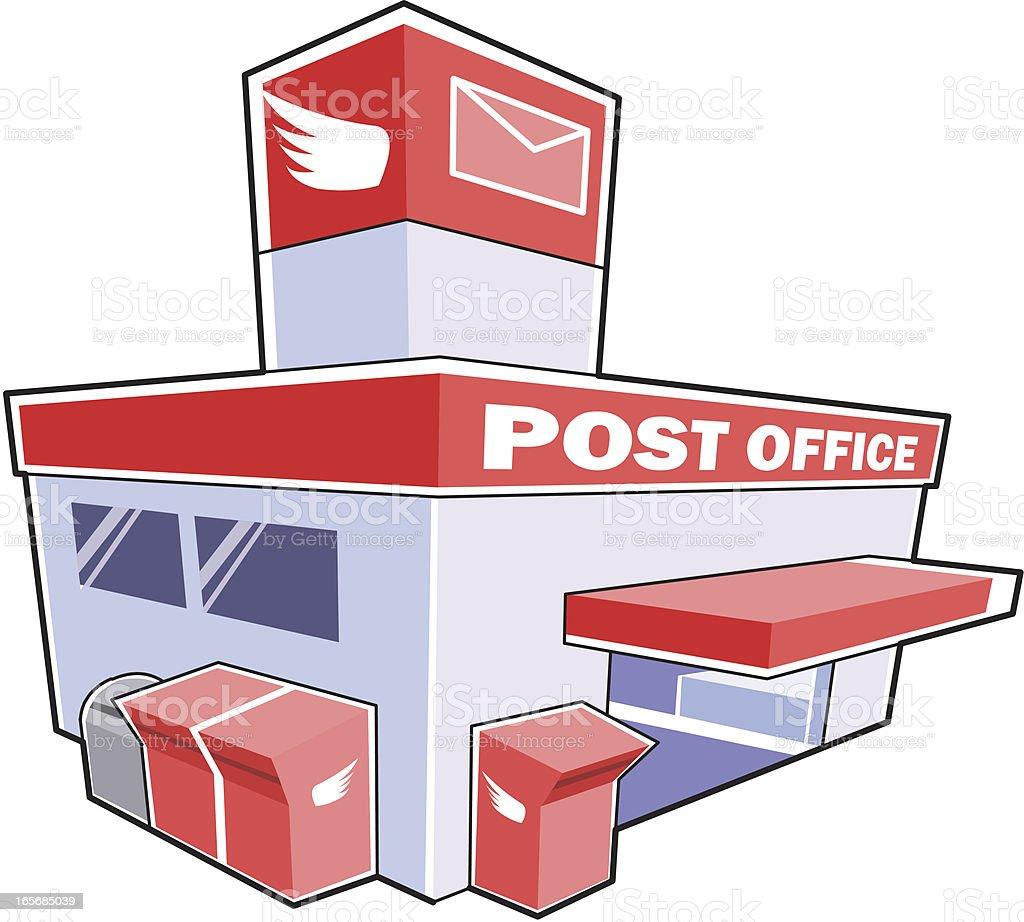Post office royalty-free stock vector art