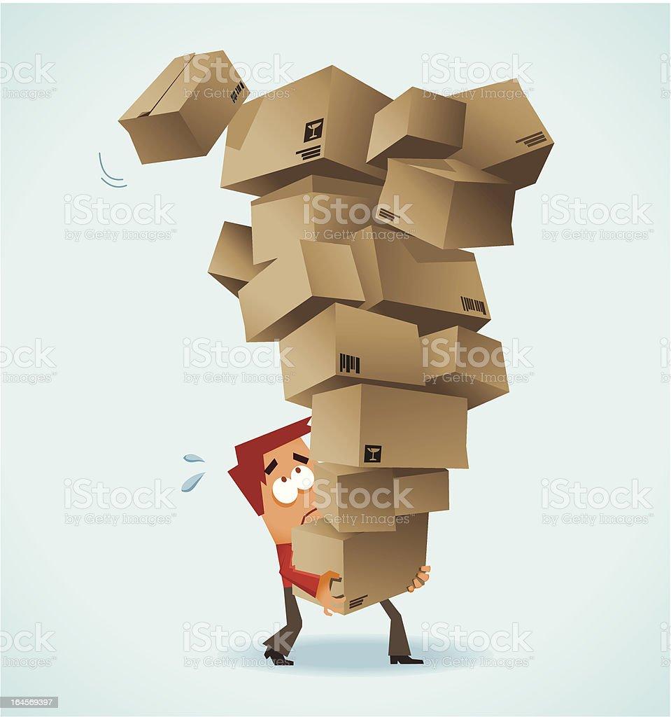 Post Shipping work vector art illustration