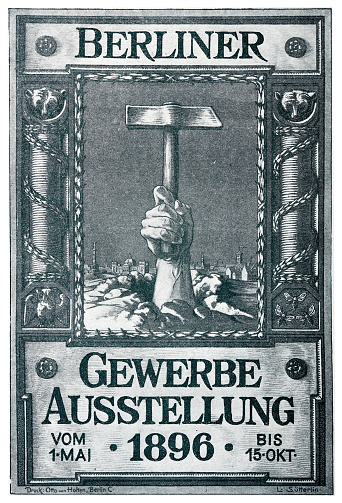 Poster for industrial exhibition Berlin, Germany, 1896