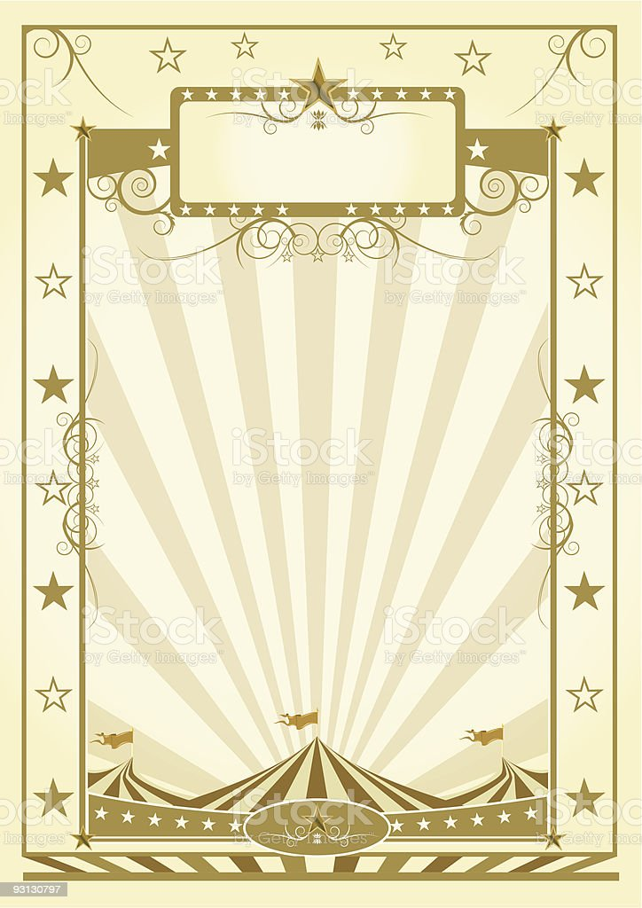 poster with big top royalty-free stock vector art