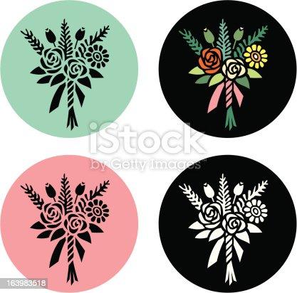 istock Posy of Flowers 163983518