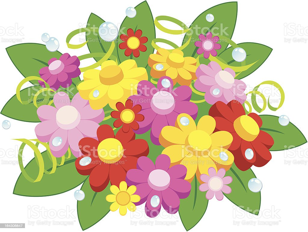 posy of flowers royalty-free stock vector art