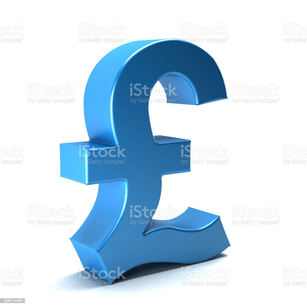 Pound currency icon. 3D rendering illustration vector art illustration