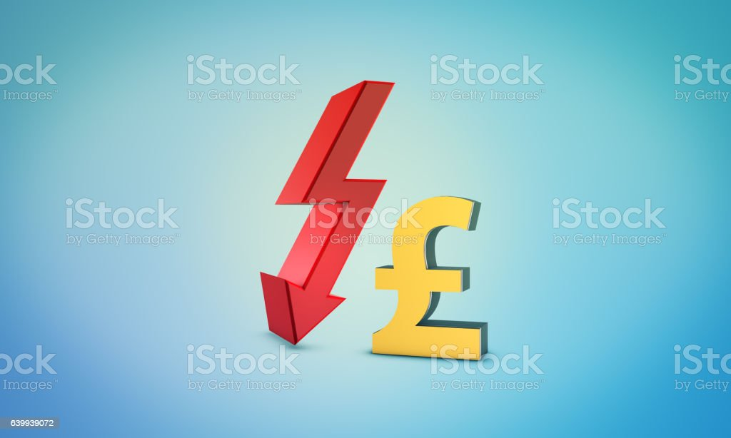 Forex chart with pound symbol and bourse concept