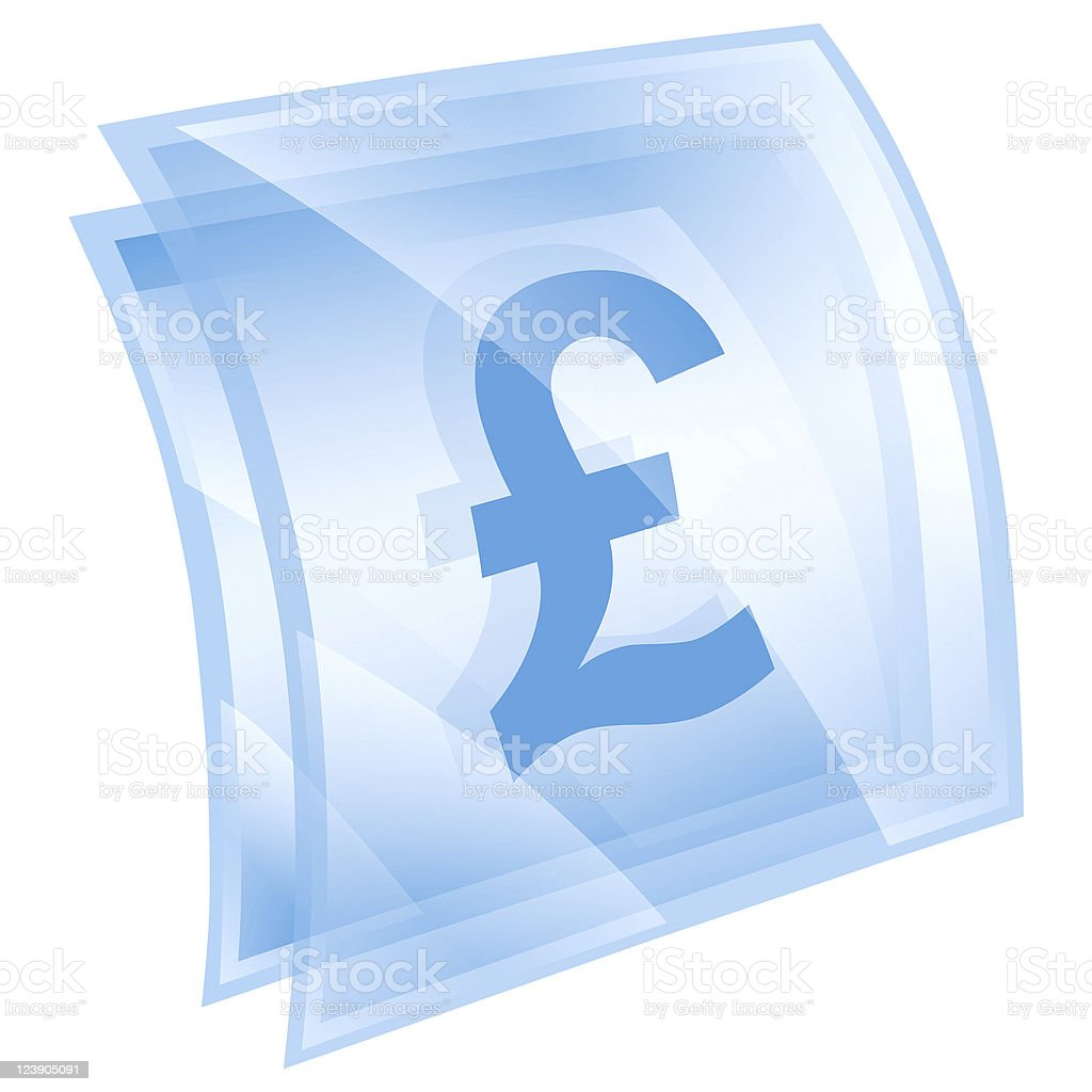 Pound icon blue square, isolated on white background royalty-free pound icon blue square isolated on white background stock vector art & more images of blue