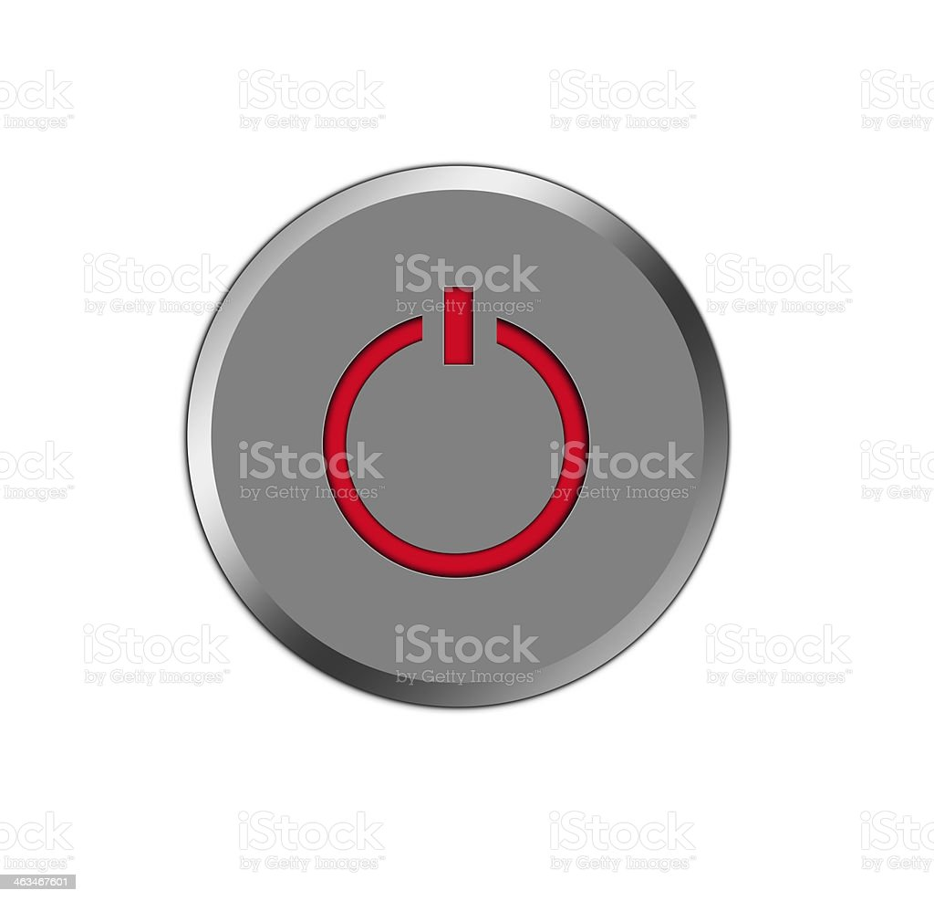 Power button icon. royalty-free power button icon stock vector art & more images of aluminum
