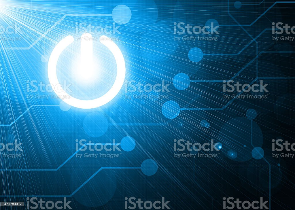 power button on digital background royalty-free stock vector art
