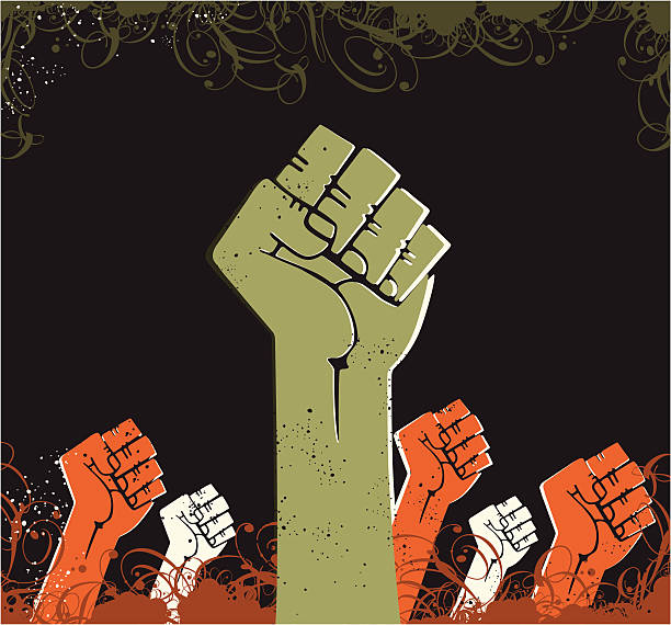 power fist - black power stock illustrations