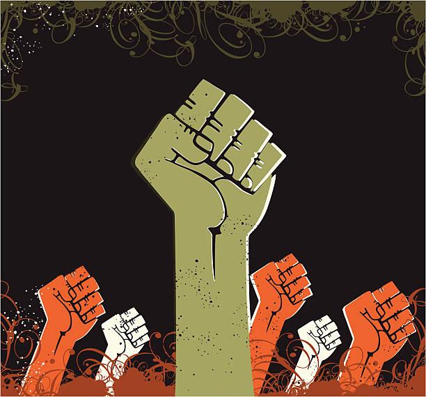전원 손 - black power stock illustrations