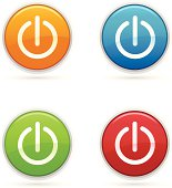 Power icons in four colors.