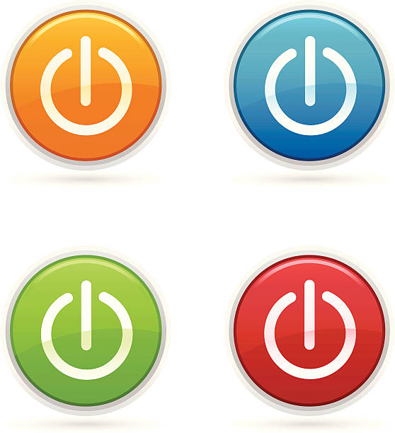power icons - 按鈕 幅插畫檔、美工圖案、卡通及圖標