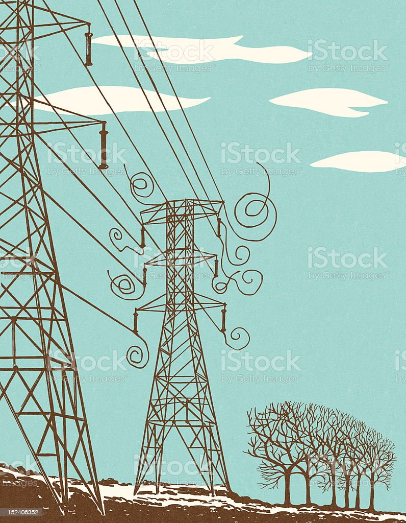 Power Lines royalty-free stock vector art