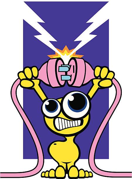 illustrations, cliparts, dessins animés et icônes de homme dessin animé puissance - rallonge électrique