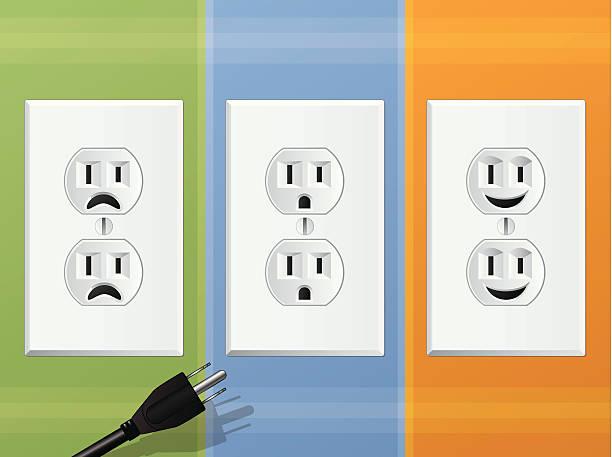 Power Outlets vector art illustration
