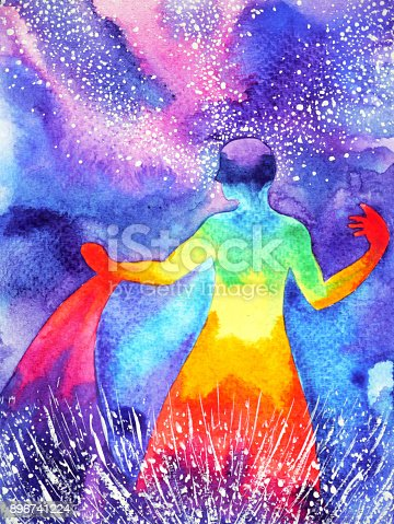 653098388istockphoto power up human, watercolor painting, chakra reiki abstract powerful world, universe inside your mind 896741224