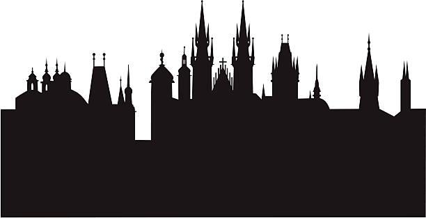 прага - иллюстрации на тему туристические направления stock illustrations
