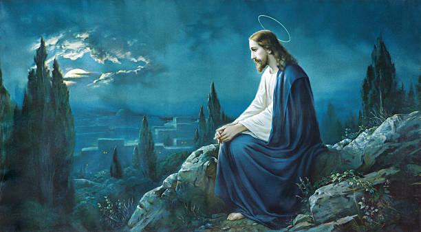ilustrações de stock, clip art, desenhos animados e ícones de oração de jesus no jardim de getsêmani. - jesus cristo
