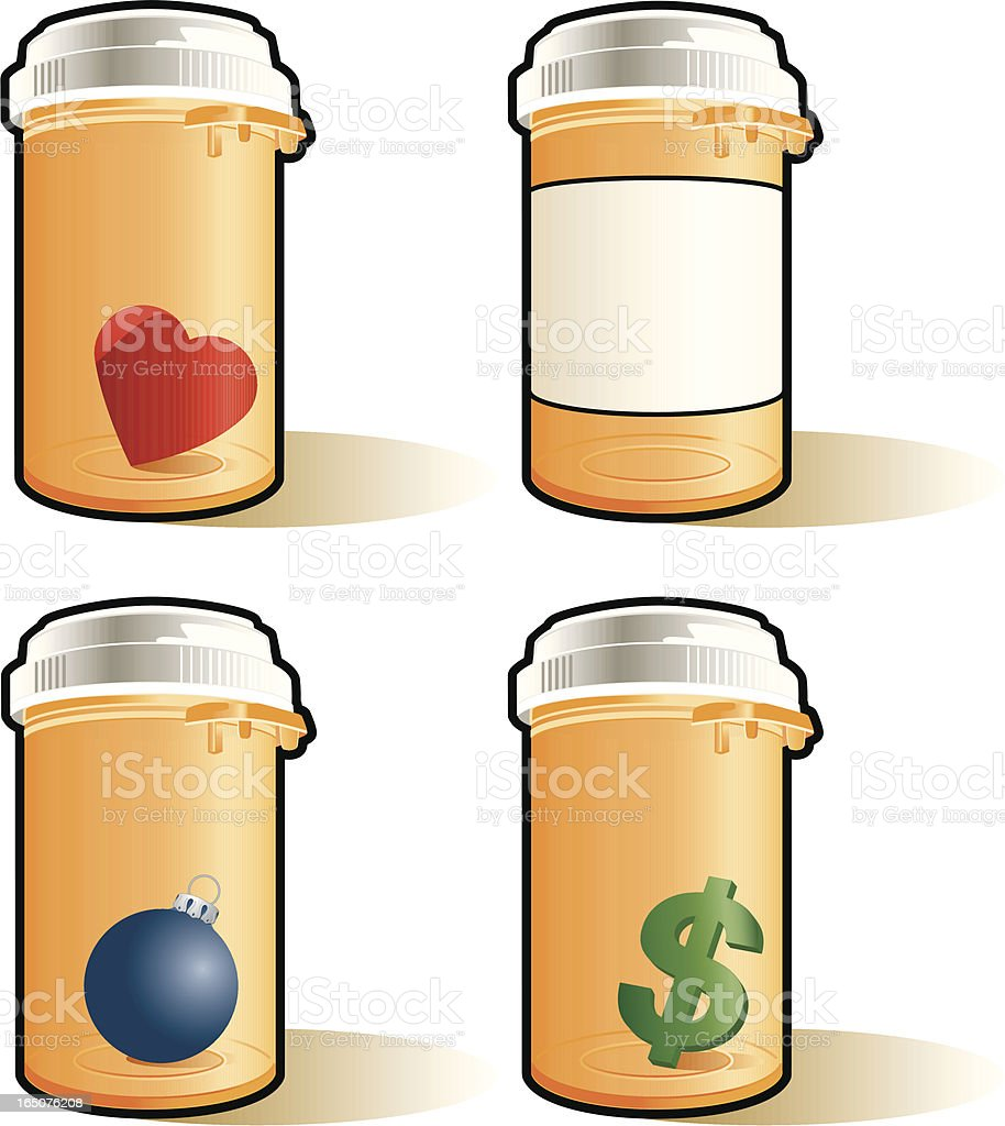 Prescription Bottles royalty-free stock vector art