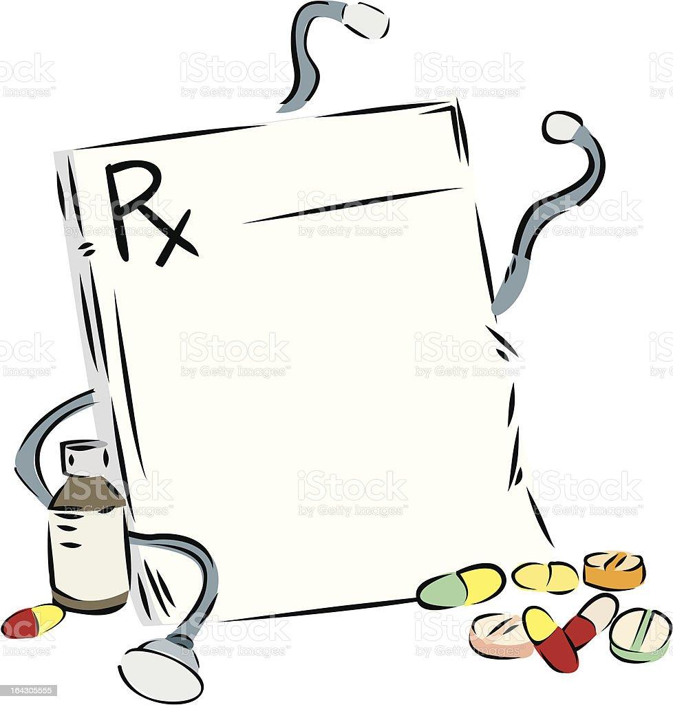 Prescription royalty-free stock vector art