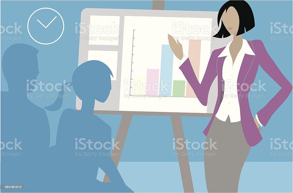 Presentation royalty-free stock vector art