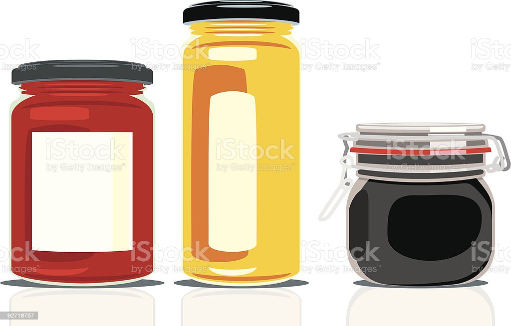 preserving jars royalty-free stock vector art