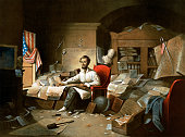 President Abraham Lincoln Writing the Emancipation Proclamation