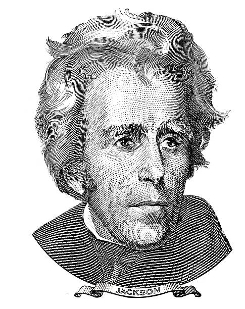 President of the United States Andrew Jackson portrait vector art illustration