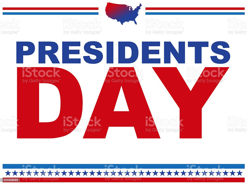 Presidents day logo vector art illustration