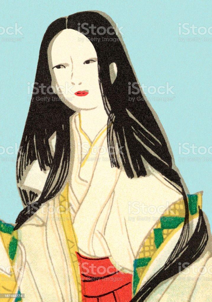 Pretty Asian Woman royalty-free stock vector art