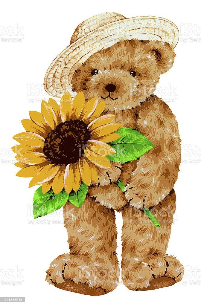 pretty bear vector art illustration