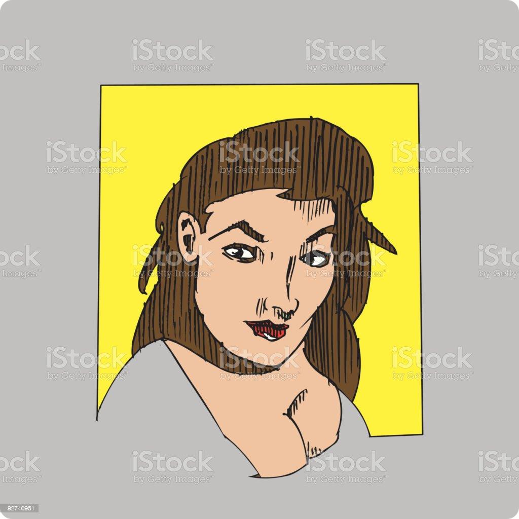 Hübsche Frau (Vektor-illustration Lizenzfreies hübsche frau vektorillustration stock vektor art und mehr bilder von attraktive frau
