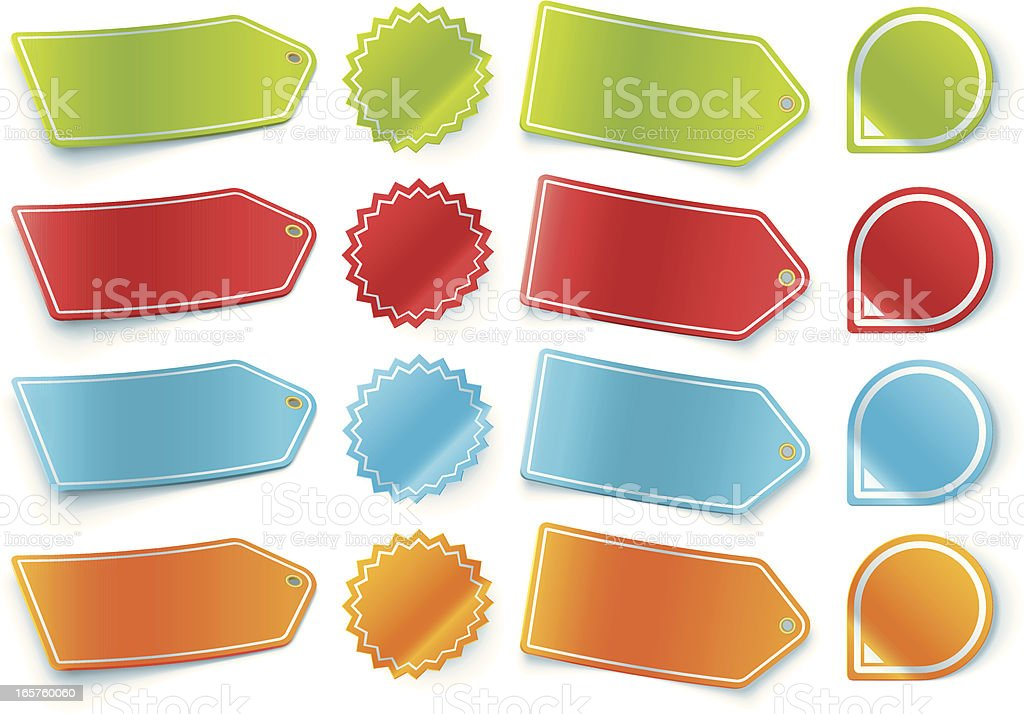 3D Pricing Labels and Stickers royalty-free 3d pricing labels and stickers stock vector art & more images of icon