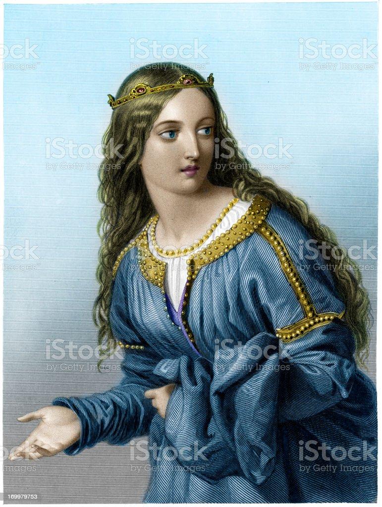 Princess Elfrida royalty-free stock vector art