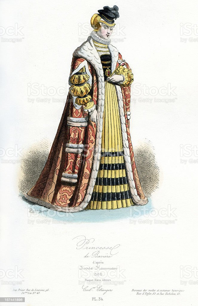 Princess of Bavaria royalty-free stock vector art