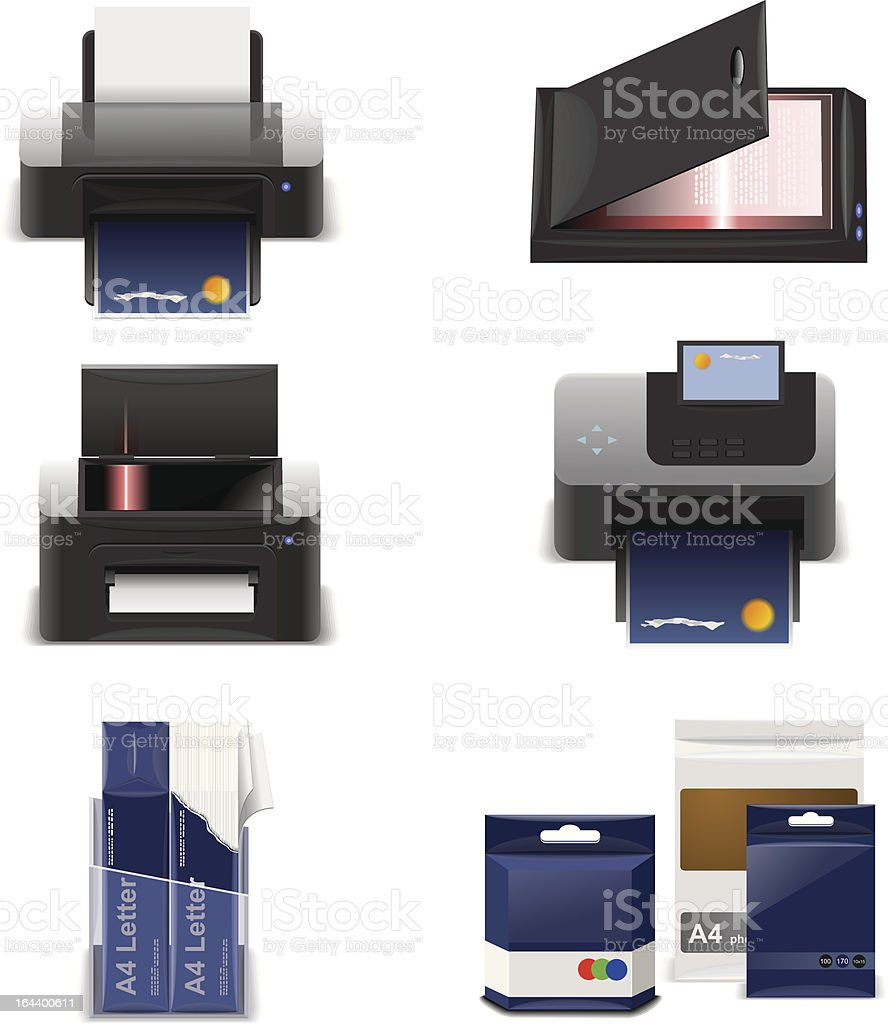 print and scan royalty-free stock vector art