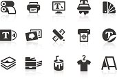"""""""Monochromatic printing related vector icons for your design or application. Raw style. Files included: vector EPS, JPG, PNG."""""""