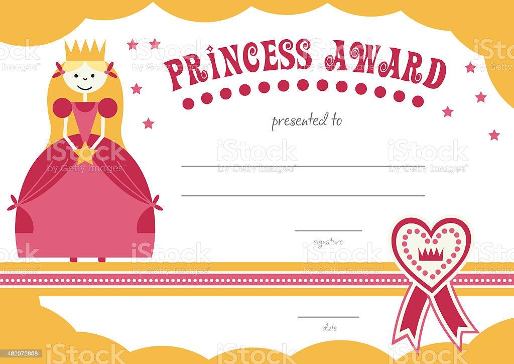 Printable Princess Certificate Stock Vector Art More Images Of