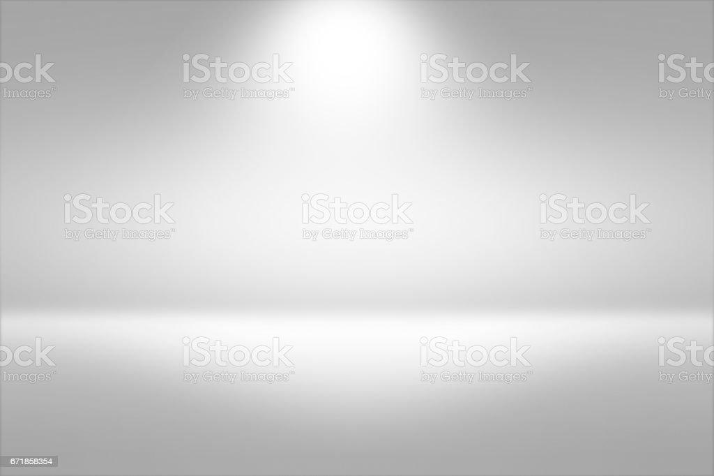 Product Showscase Spotlight Background - Crisp and Clear Infinite Horizon White Floor vector art illustration